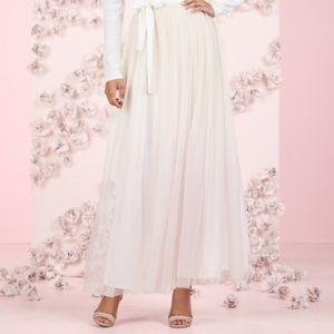 Lauren Conway Tulle Cream Pink Ombré Skirt